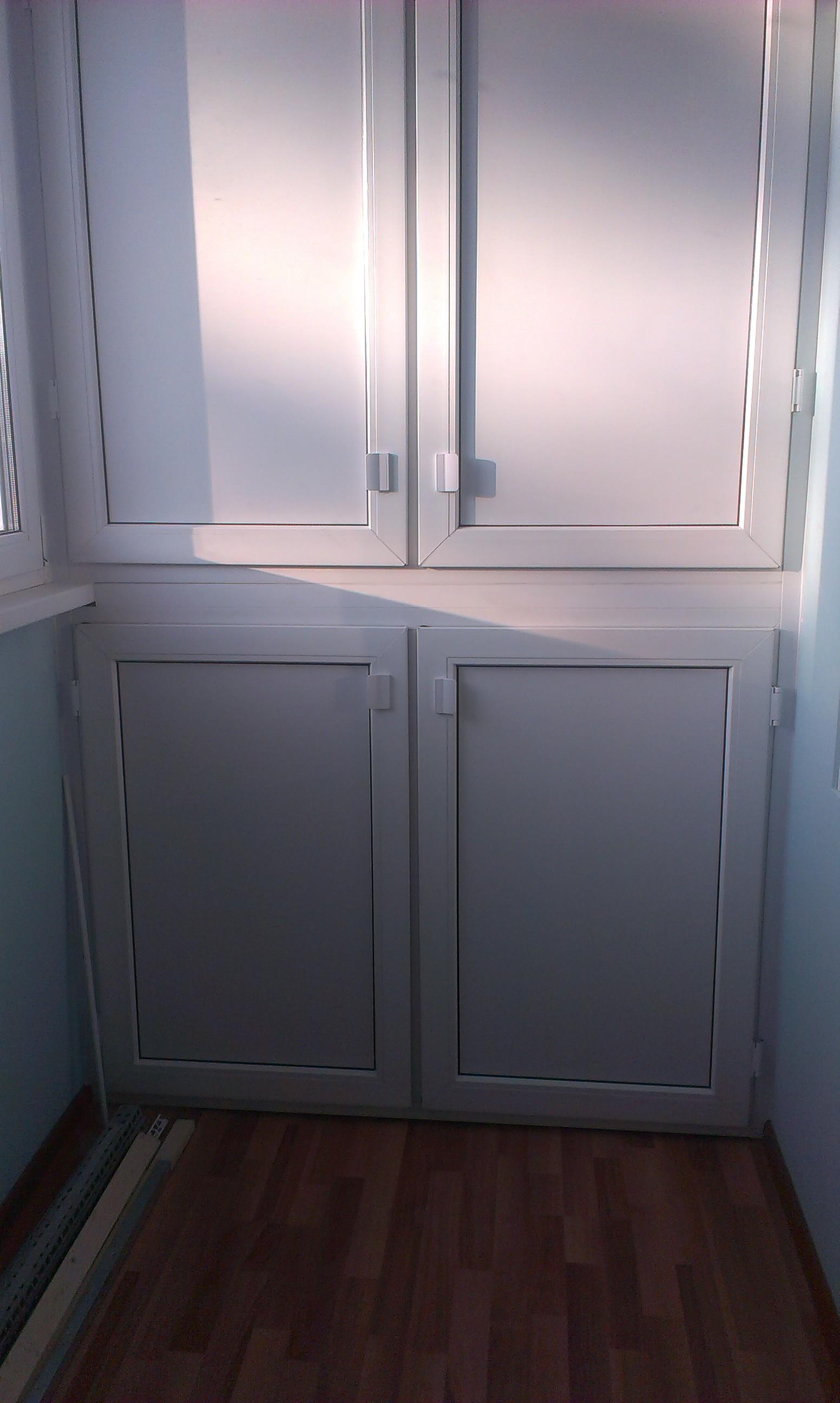 Как сделать двери в шкаф на балконе